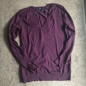 V-necked Purple Sweater from Club Monaco